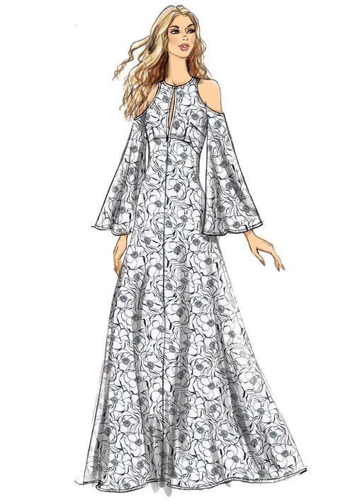 Vogue V9296 Misses Dress Sewingpattern Customfit Maxi Dress