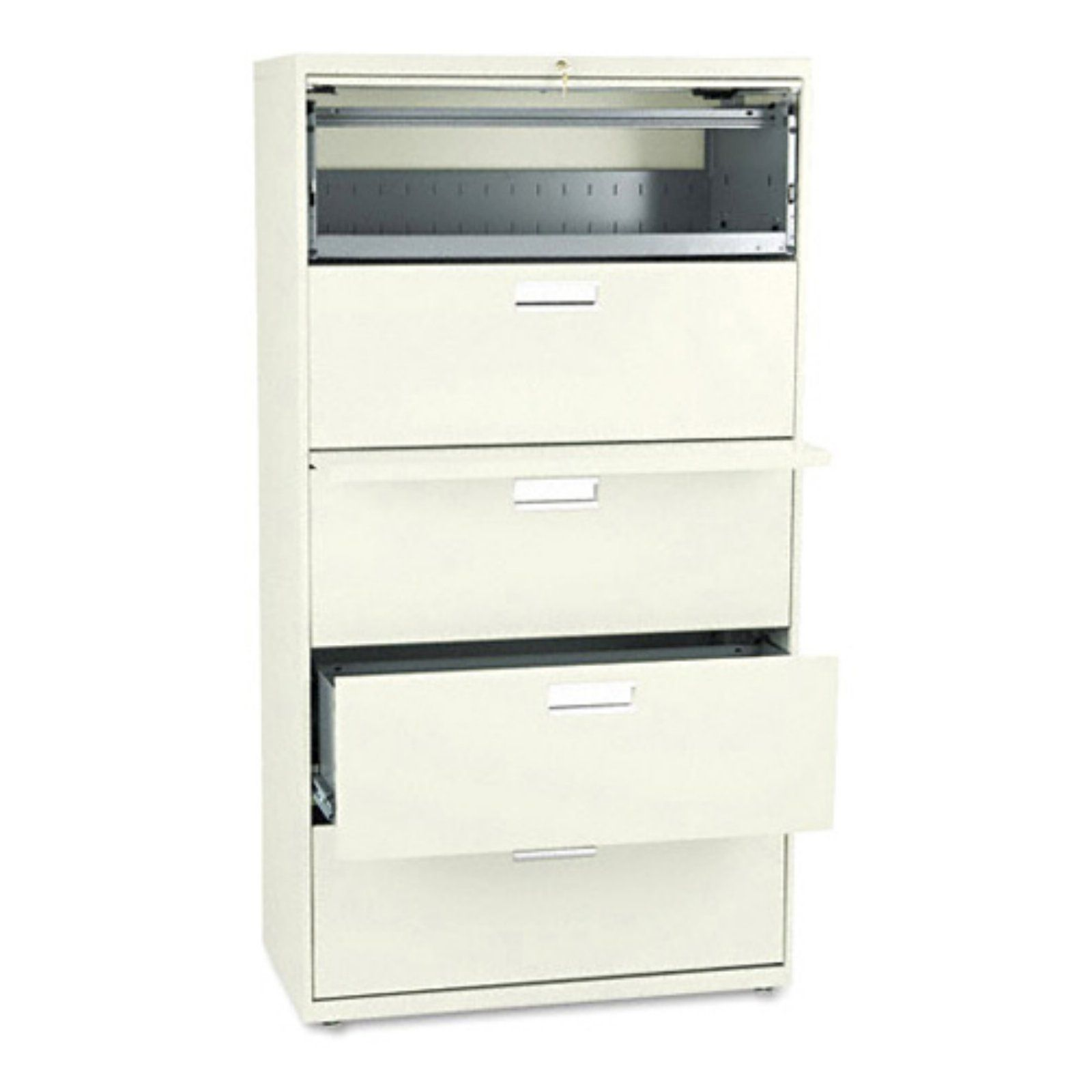 Hon 600 series 36 inch four drawer lateral file and one