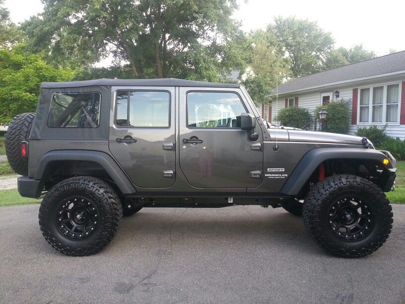 "Its mine! 2014 JKU ..4""lift, 35"" Nitto Grapplers ..17"" XDs"