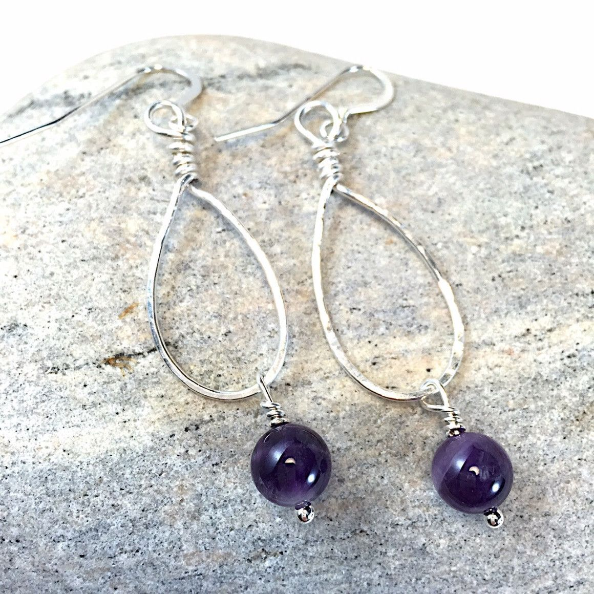 Nature's Bounty Earrings With Amethyst Stones