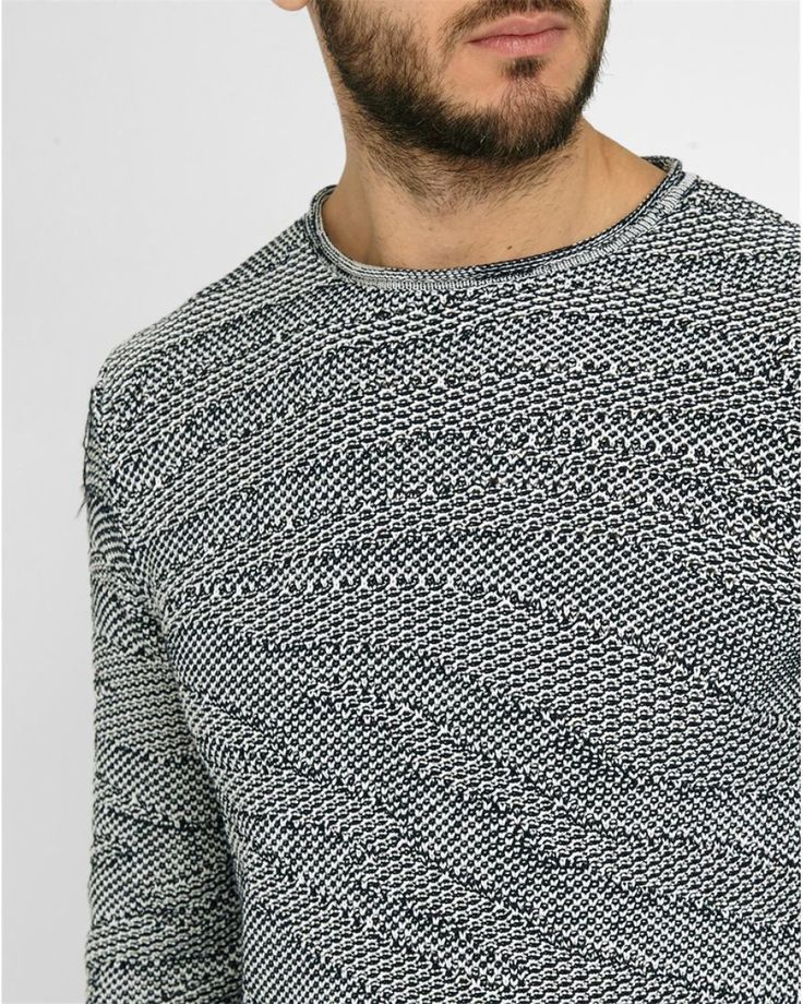 Nice Men's Summer Style Armani Jeans   Gray Navy Graphic Knit Cotton Round  Polo-neck