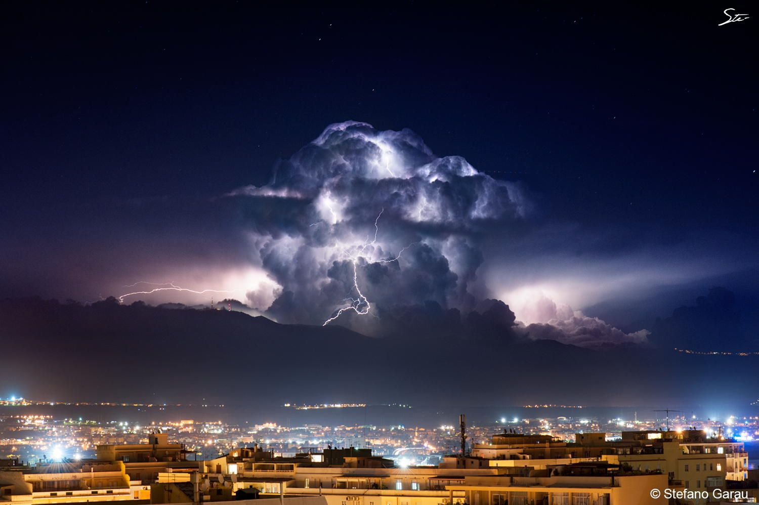 another lightning storm in Cagliari by Stefano Garau on 500px