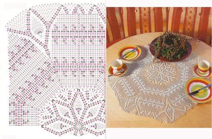 centros-de-masa-crochet-14   ganchillo   Pinterest   Centro, Centros ...