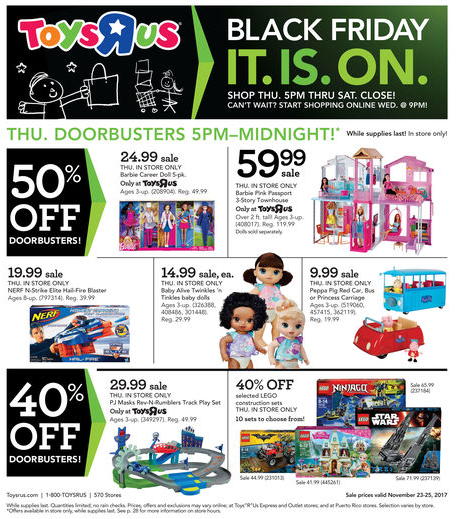 Toys R Us Black Friday Weekly Ad Nov 23 25 2017
