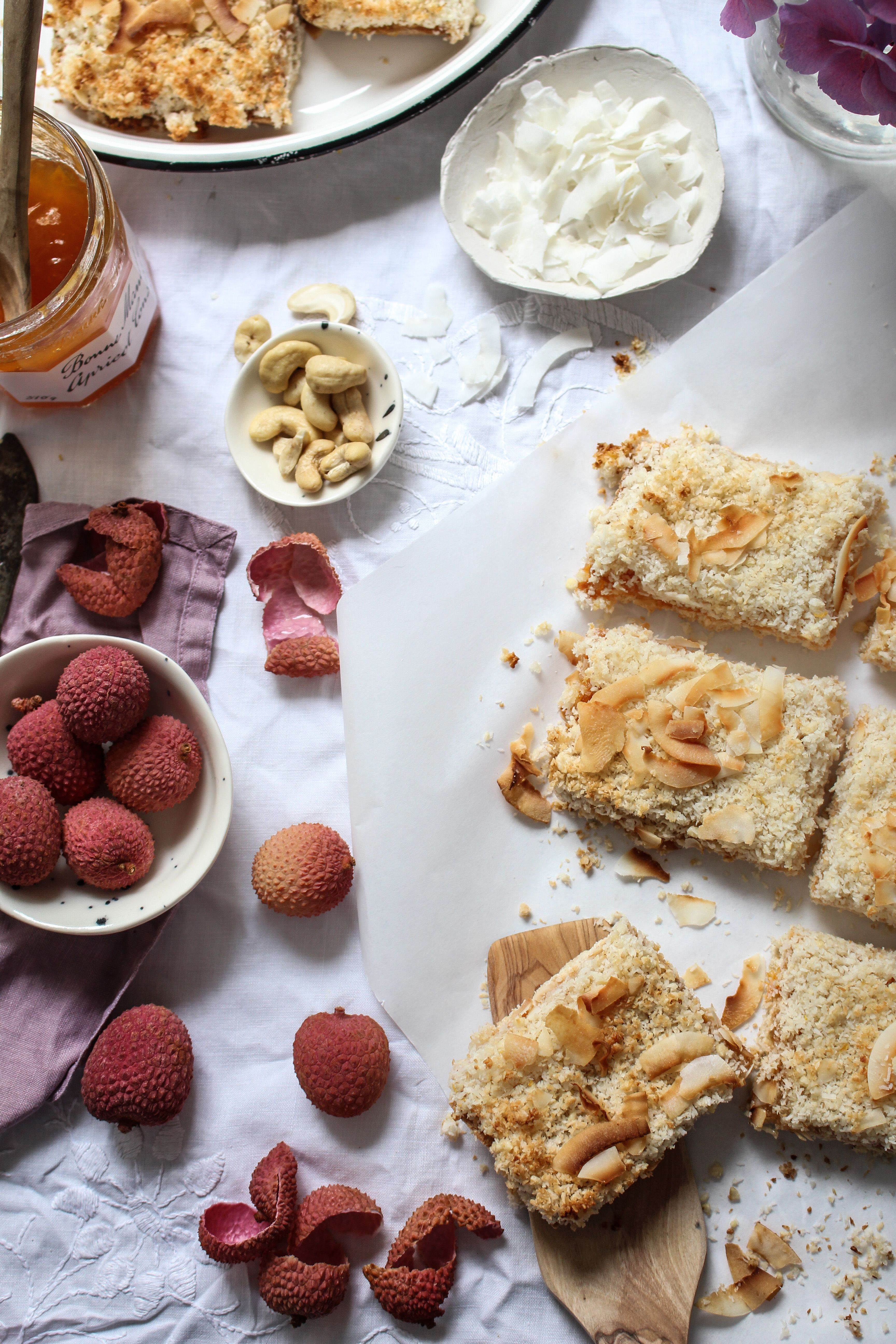Coconut Apricot And Lychee Bars Recipe Healthy Sweet Snacks
