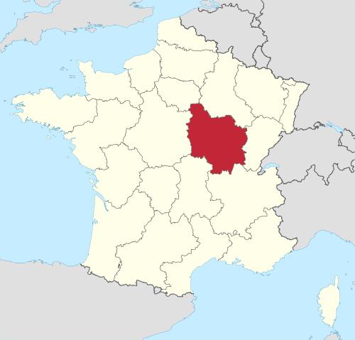 Bourgogne in France.svg