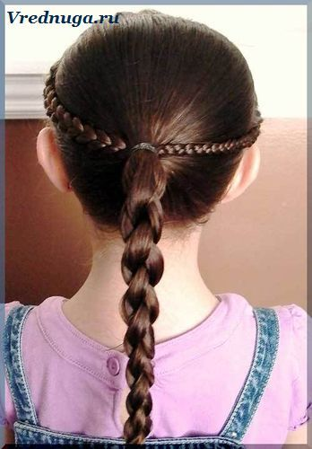 Колоски и косы - прически для девочек   Прически, Детские ...