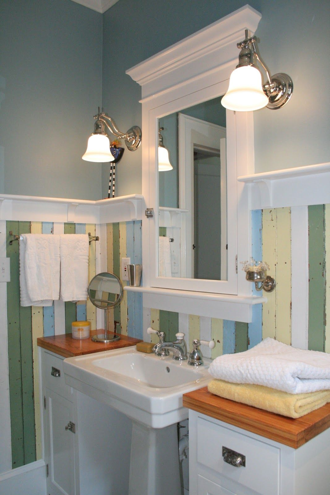Fun House Redo Of My 1920 S Bathroom 1920s Bathroom Bungalow Bathroom Bathroom Sink Design