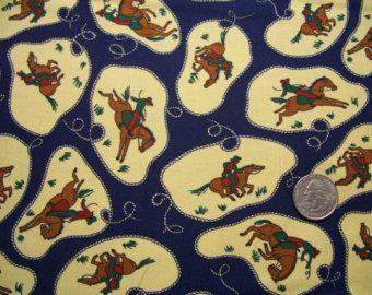 FAT QUARTER - Moda Fabric, Roundup, Ropin' Cowboy, Designer Cotton ... : designer quilt fabric - Adamdwight.com