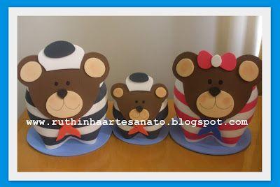 Ruthinha Artesanato: Urso Marinheiro