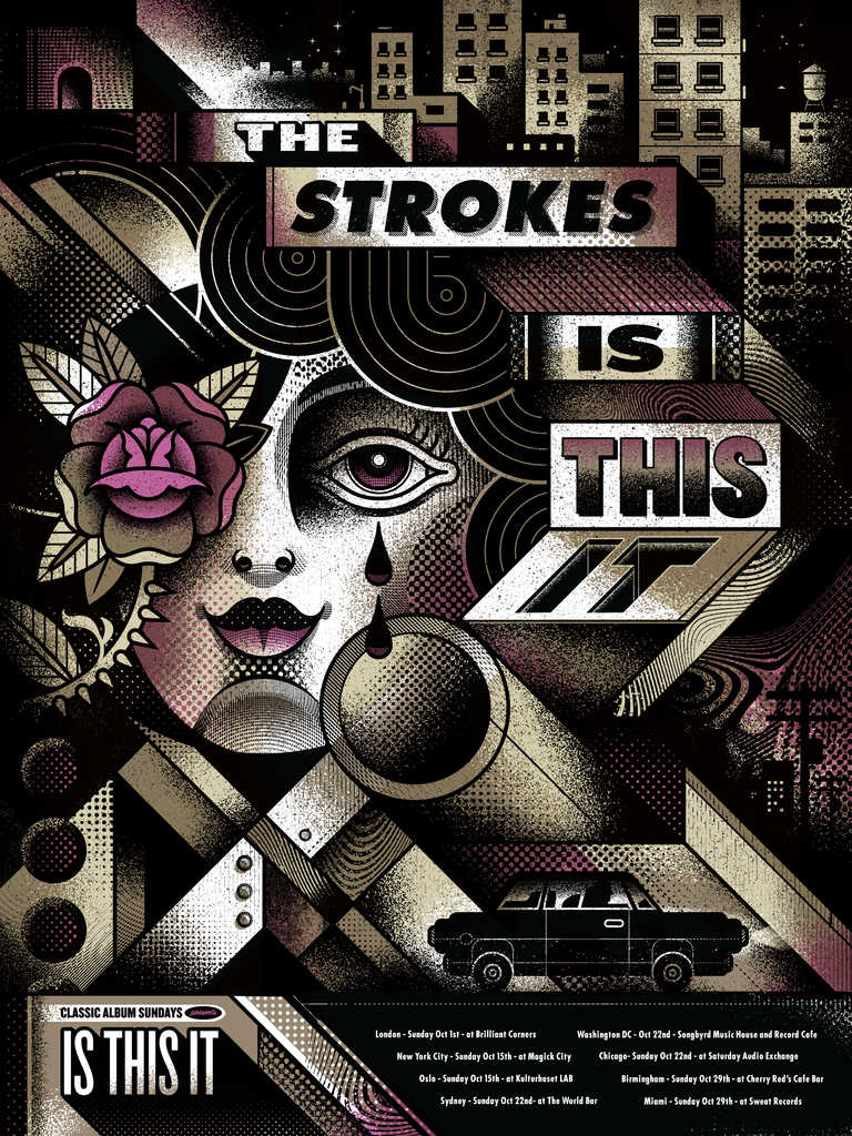 The Strokes The Strokes Infographic Poster Album Cover Art