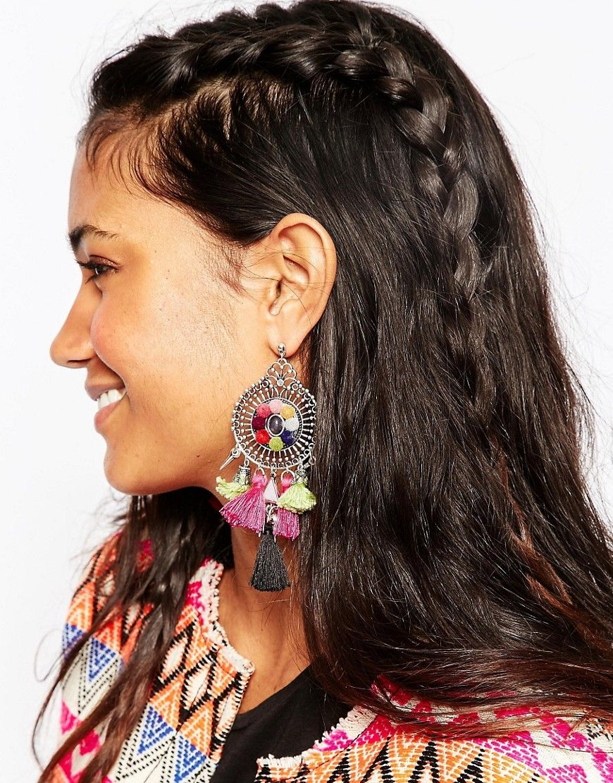 Image 3 of ASOS Pom Pom Party Earrings
