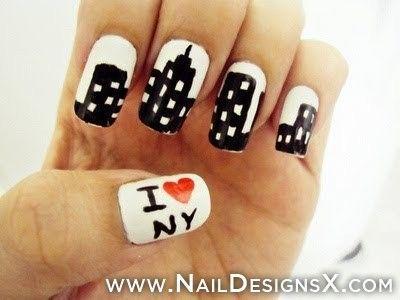 Love Ny Nail Designs Nail Art Abstract Nail Designs Nail Art