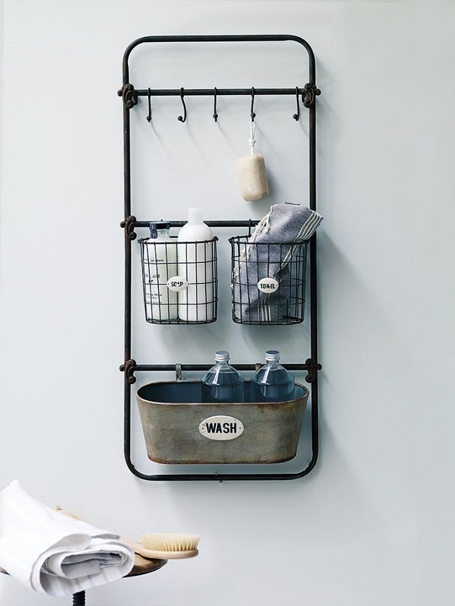small bathroom storage solutions vintage syle bath rack | Industrial ...