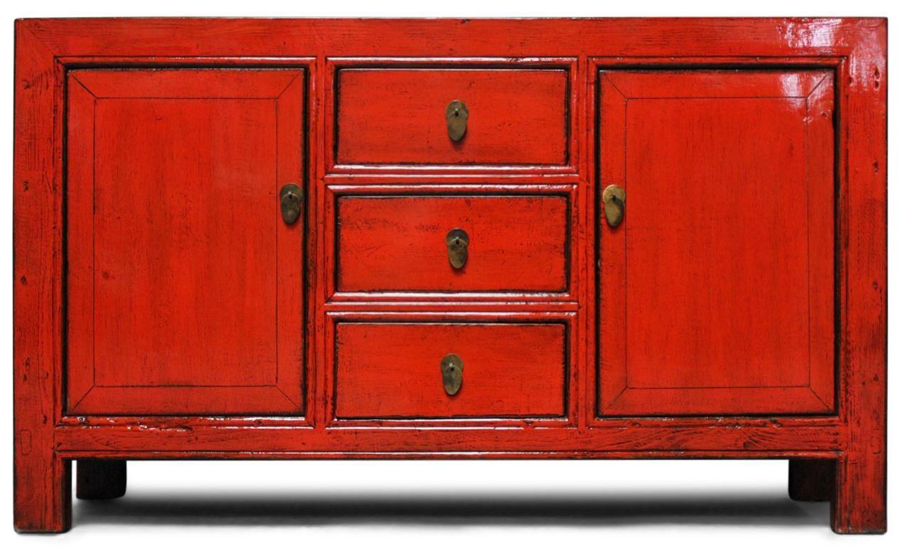 Rot Oranges Sideboard Aus China Aus Ulmenholz Masse 89 X 153 X 38