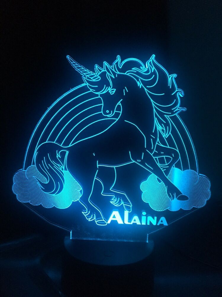 Details About Unicorn 3d Led Lamp Personalised 10design 7colors Changing Remote Control Gift Led Night Light Led Lamp Color Changing Led