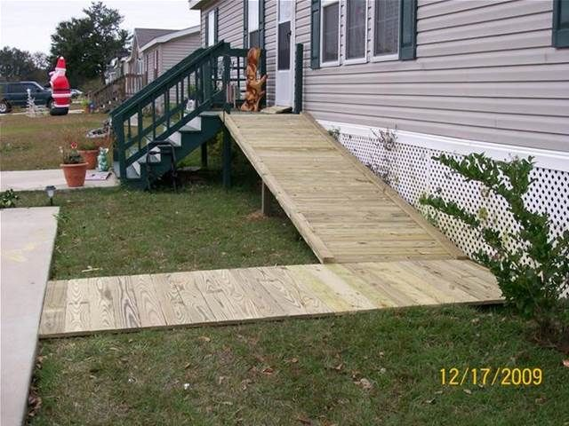 Wheelchair ramps for mobile homes home review for Wheelchair homes
