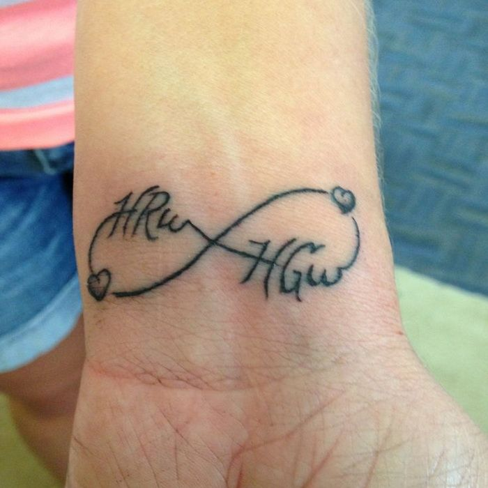 Husband Wife Infinity Tattoos Love Infinity Tattoo Name Designs Great Feather Tattoo Names Girl Infinity Tattoo Tattoos With Kids Names Tattoos