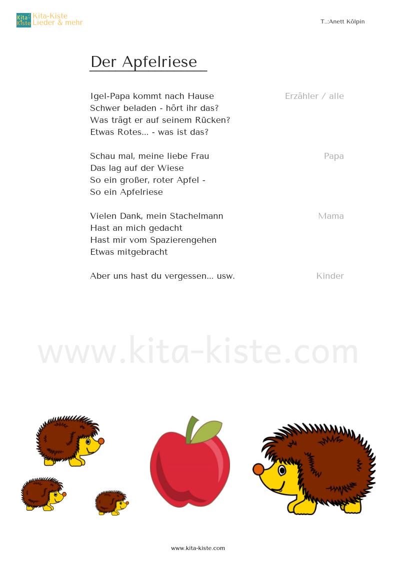 Gedicht der igel Kinder