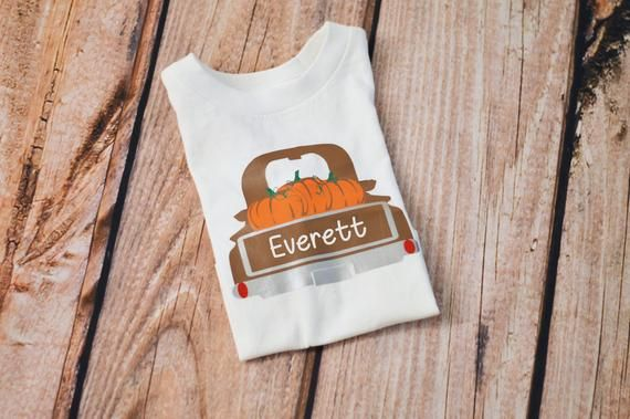 Boys Pumpkin Truck Shirt, Fall Thanksgiving Outfit, Personalized Pumpkin Patch Shirt, Baby Toddler o #thanksgivingoutfit
