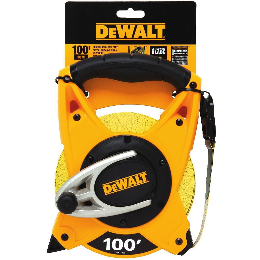 Dewalt 100 ft long tapedwht34028 the home depot