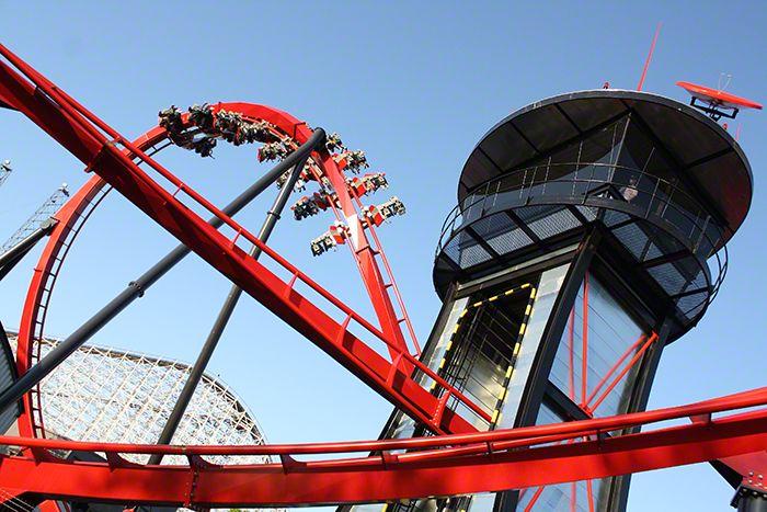 X Flight Six Flags Great America Gurnee Illinois Great America Roller Coaster America