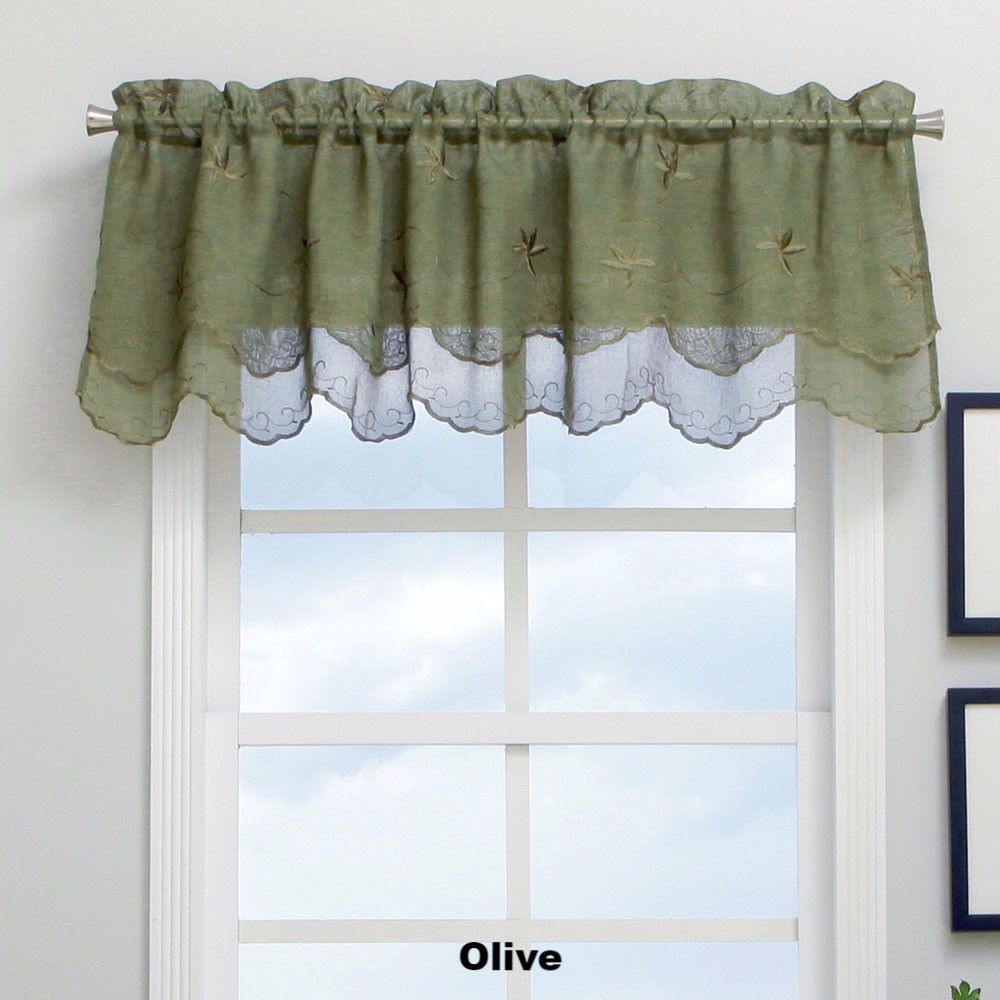 Zurich Semi Sheer Panel And Valance Valance Home Decor Curtains