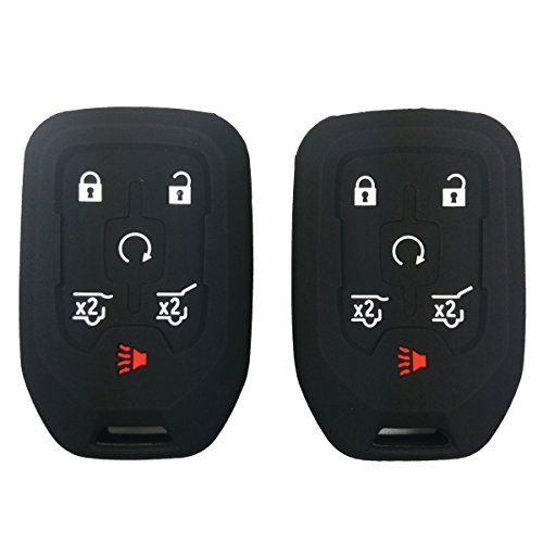 2pcs Coolbestda Silicone Smart Key Fob Cover Case Remote Skin