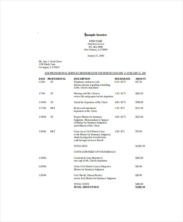 sales invoice template , Invoice Template NZ for Tax Invoicing - attorney invoice template