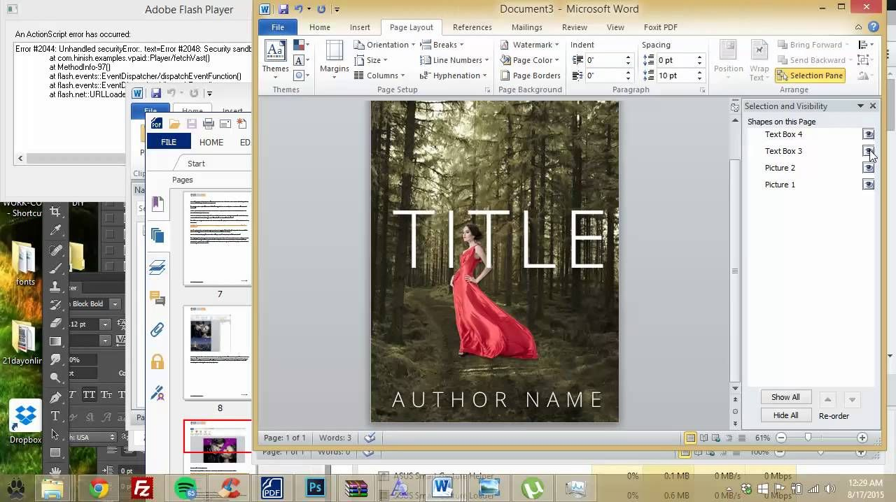 How to make an ebook cover in Microsoft Word (Part 1