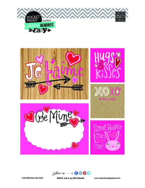 FREE Valentine's POCKET PAGES™ Free Printable 02 | me & my BIG ideas