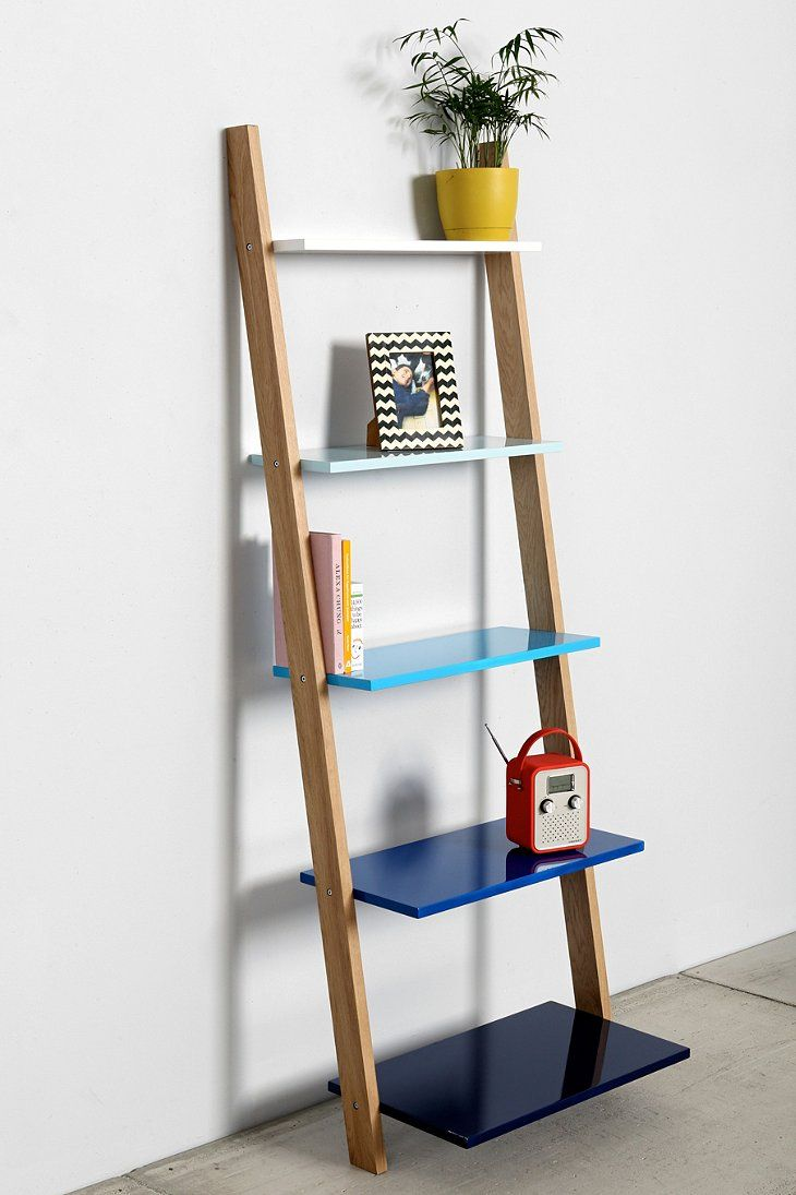 Leaning bookcase shelves apartments and room