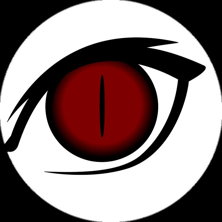 Free Image On Pixabay Eye Cartoon Isolated Red Cat Cat S Eye Anime Red Cats Eye Cartoon