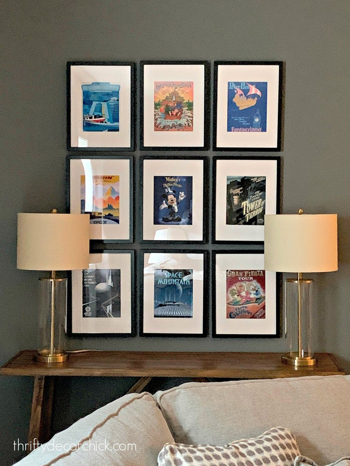 A grown-up way to add Disney decor  {without it fe