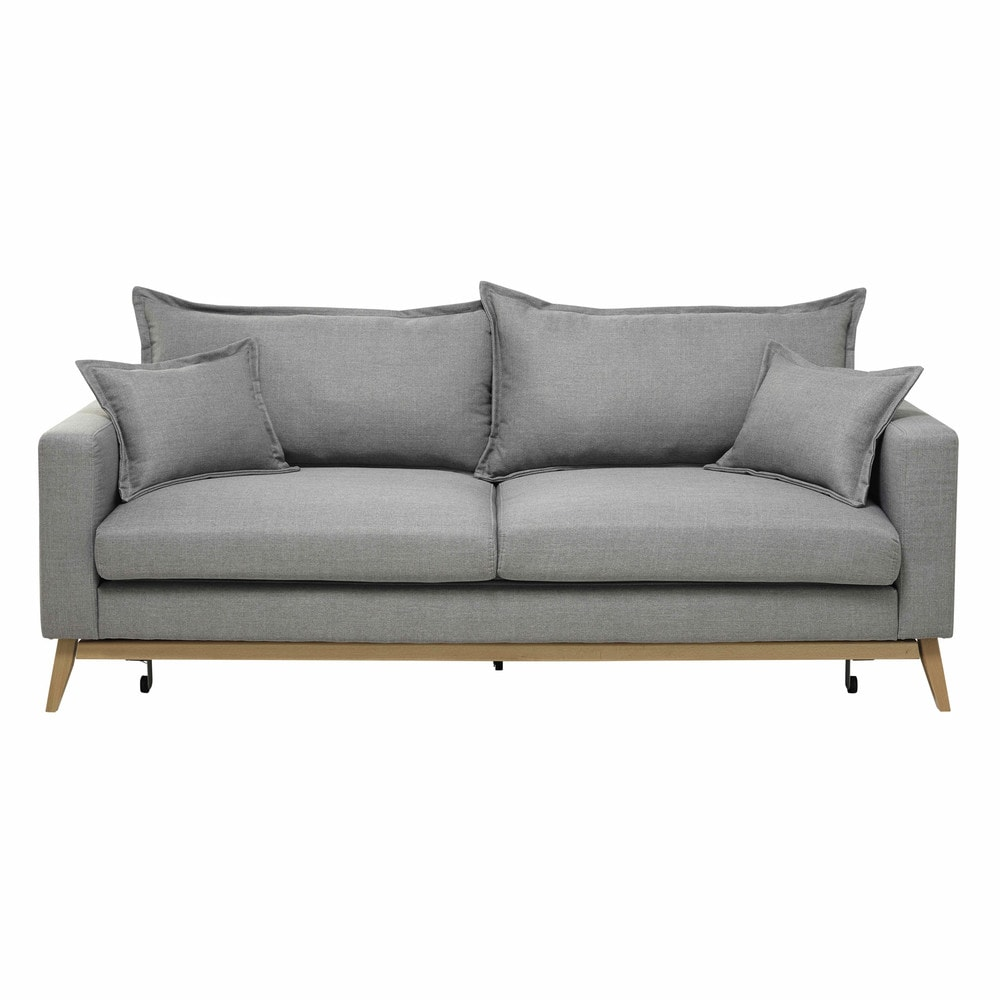 Canapélit Places Gris Clair Duke Fabric Sofa And Salons - Canape convertible