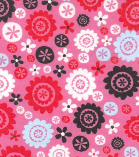 Snuggle Flannel Fabric- Floral Circles
