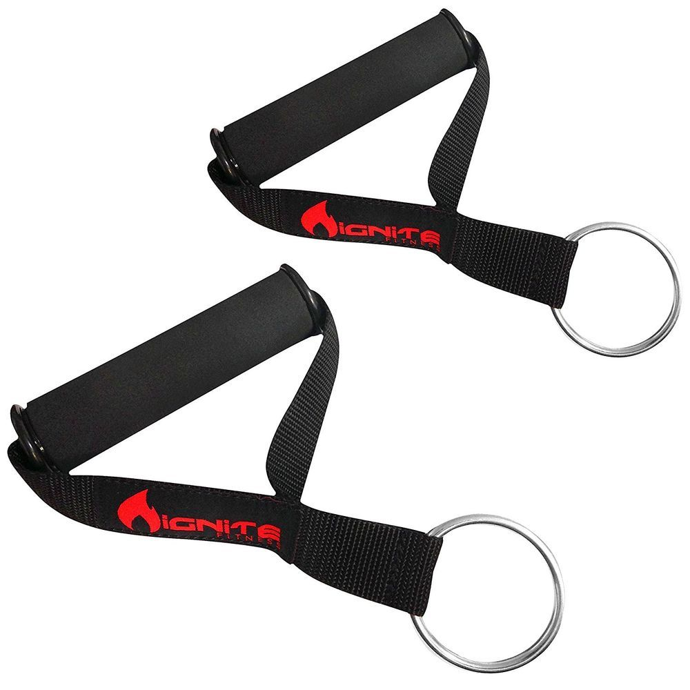 Extra Strong Pair of FitCord Fitness Handles for Resistance Bands /& Exercise
