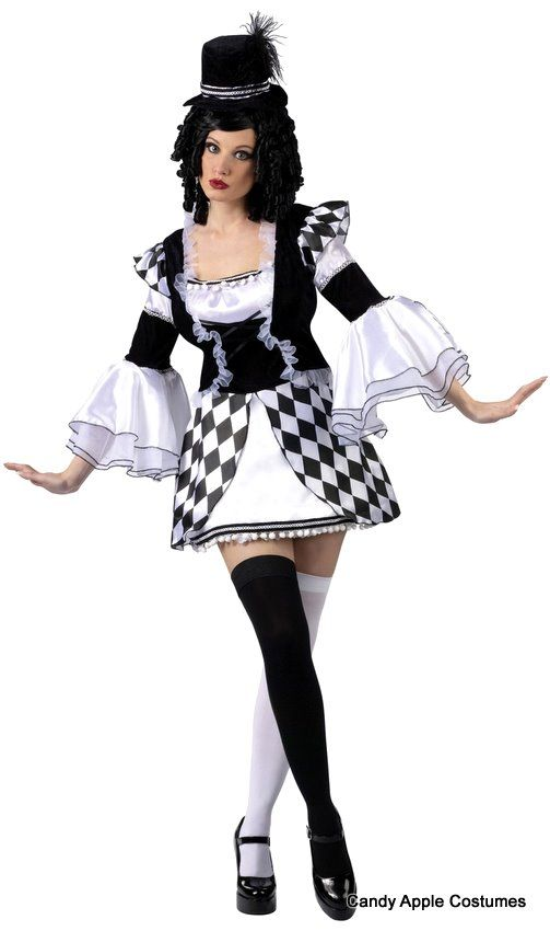 71b67e6485763 Adult Harlow Quinn Sexy Jester Costume - Sexy Women's Costumes ...