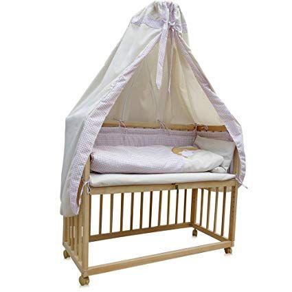 Beistellbett Kinderbett Gitter Himmelbett Babybett Bett