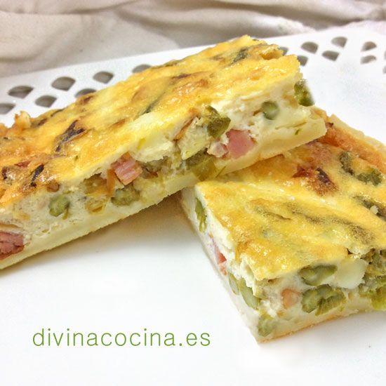 Receta De Quiche De Espárragos Trigueros 3 Asparagus