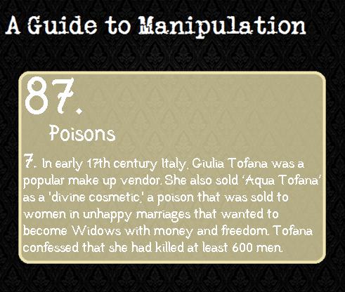 A Guide to Manipulation 87 - Giulia Tofana