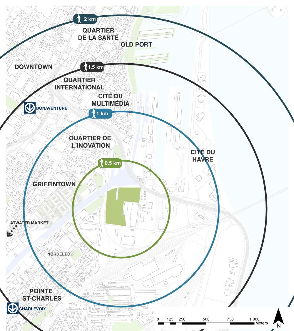 walking distances diagram - Google Search