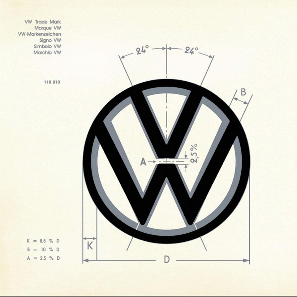 New Volkswagen logo breaks its own rules Volkswagen logo