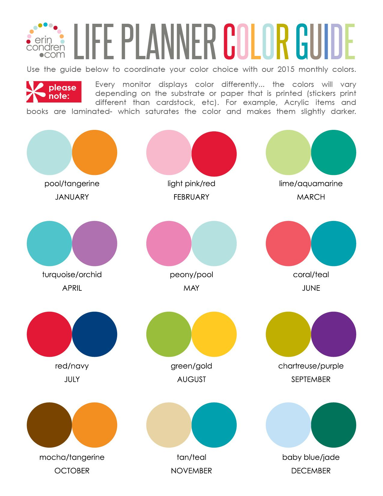 good color combinations erin condren design its always a time to get 30535