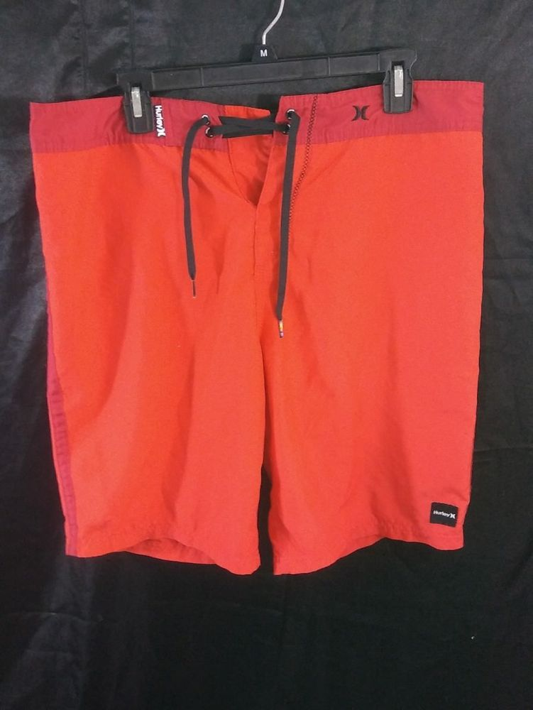 13a09fcb05a Hurley Size 33 Surf Board Shorts Red Swim Beach Trunks  Hurley  BoardShorts