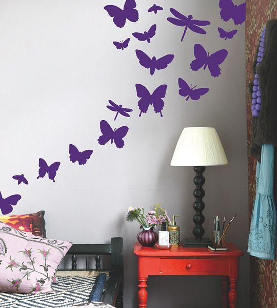 Miss butterfly - Como hacer mariposas de papel para decorar paredes ...