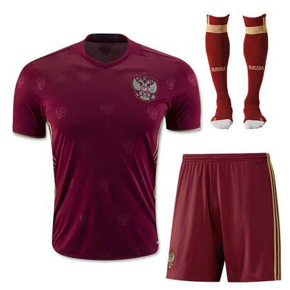 san francisco 2e077 38b8a 2016 Russia National Team Home Red Jersey Whole Kit(Shirt+ ...