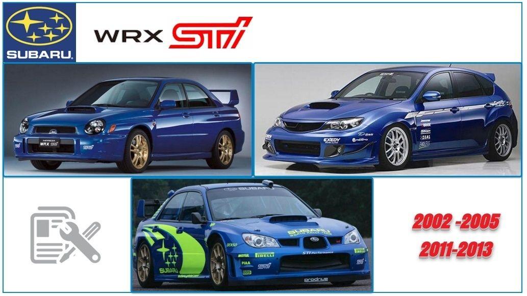 subaru wrx sti 2002 2005 201 1 2013 service manuals auto repair rh pinterest com 2012 subaru wrx service manual 2015 subaru wrx service manual