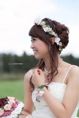 花嫁 髪型 花嫁 髪型 花冠 画像 : pinterest.com