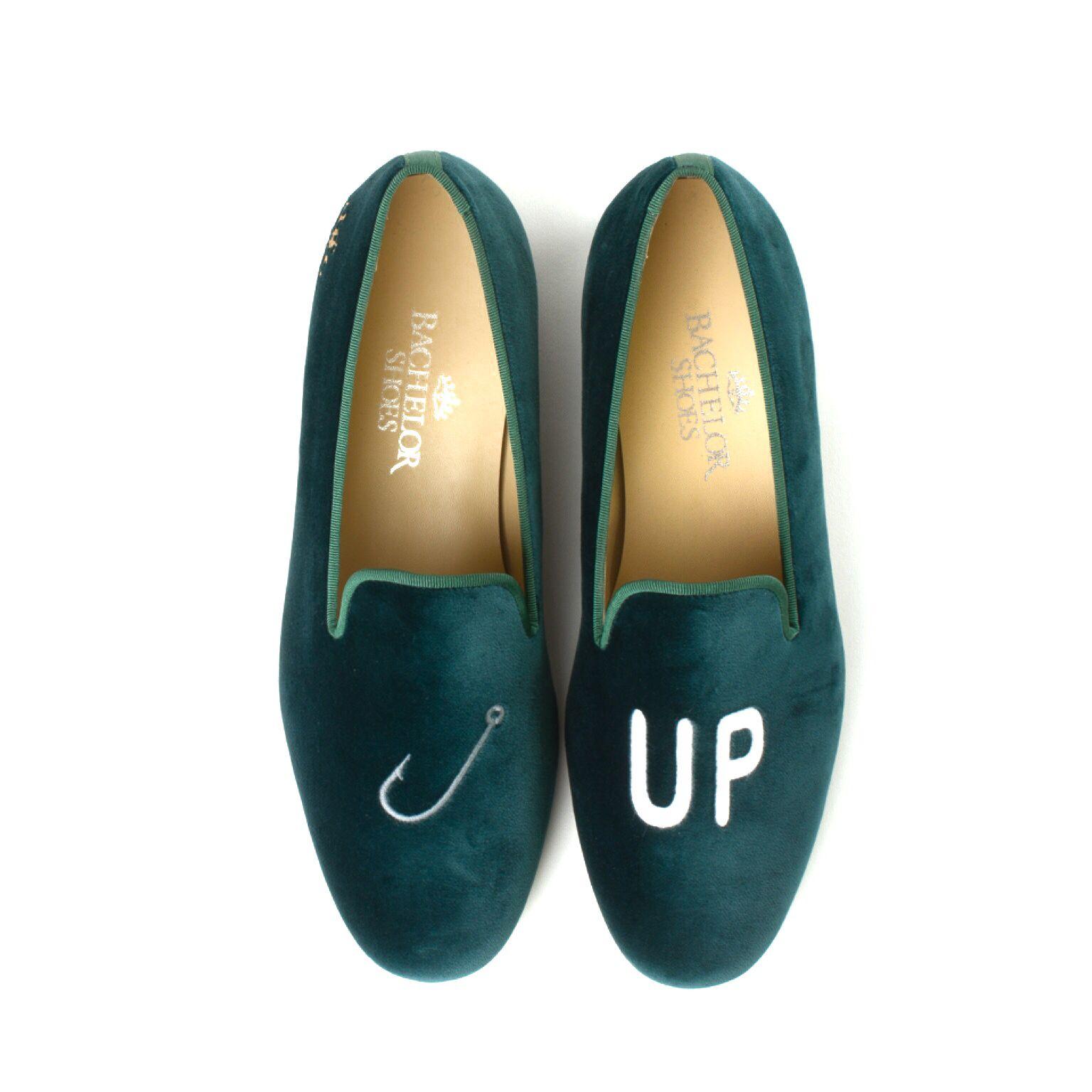 Hook up velvet slippers